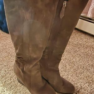 Franco sarto knee high leather boots size 10